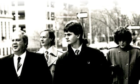 Rick Wershe Jr at his trial with his lawyer William Bufalino and his parents.