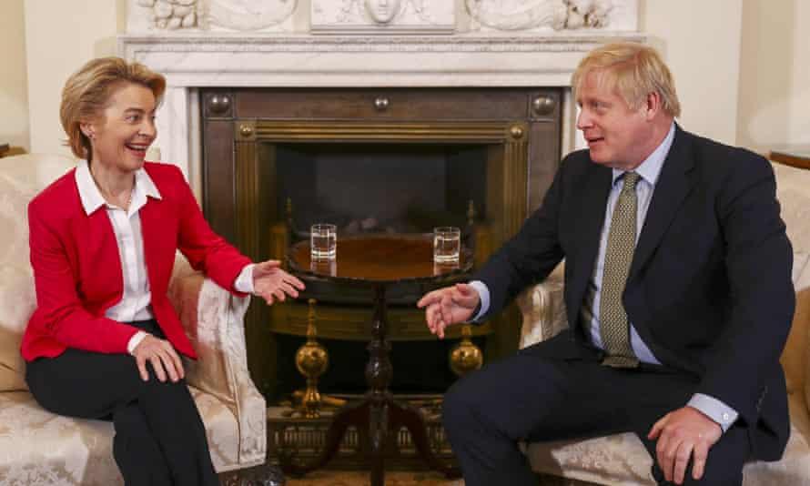 Ursula von der Leyen, the president of the European commission, met Boris Johnson at Downing Street on Wednesday.