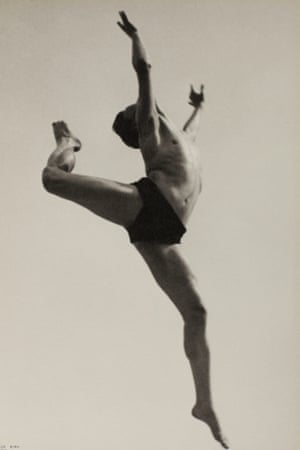 Dancer Willem van Loon, Paris, 1932 by Ilse Bing, from the Tate Modern show The Radical Eye