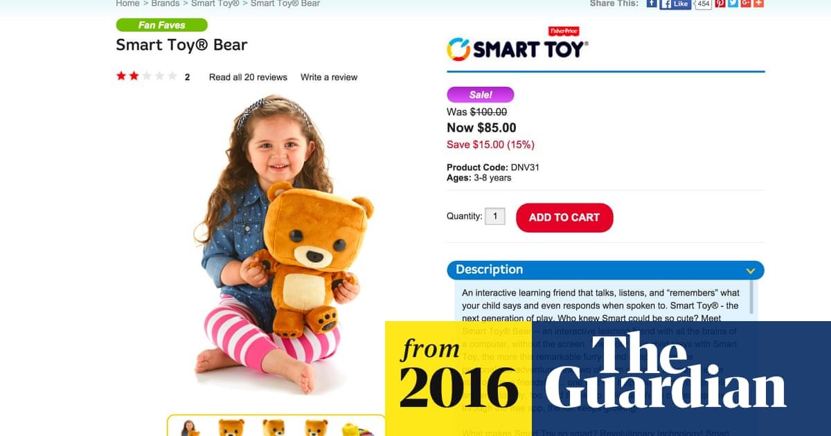Fisher-Price smart bear allowed hacking of children's