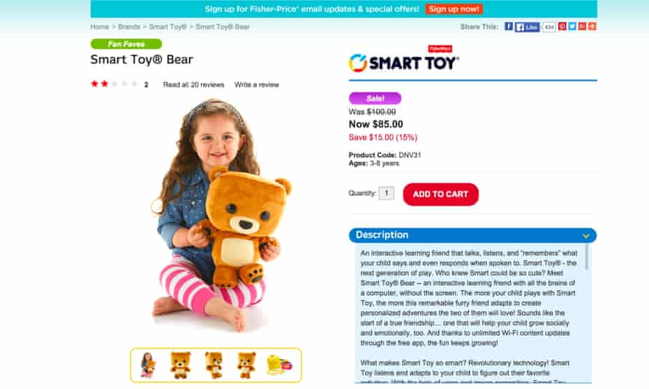 Researchers found that the app connected to the Fisher-Price toy had several security flaws that would allow a hacker to steal a child's name, birthdate and gender, along with other data.