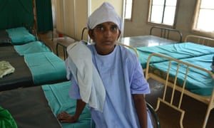Susheela is getting sterilised at a family planning clinic in Ellis Nagar, Madurai, only days after giving birth.
