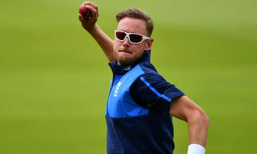 Stuart Broad, who appears fit to play under his fifth England captain after recent heel trouble, takes part in a training session before the first Test against South Africa.