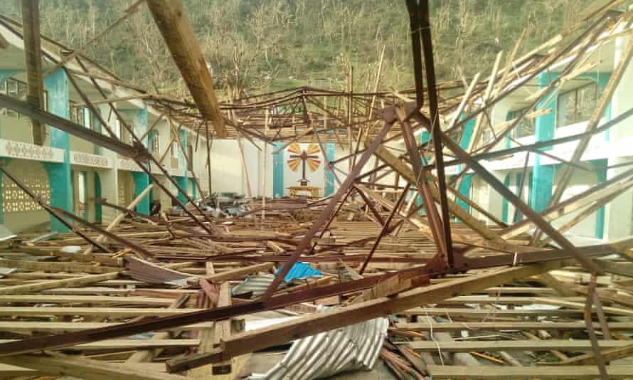 A collapsed church in Vanuatu
