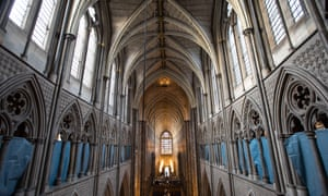 The view from the triforium towards the Great West Door at Westminster Abbey