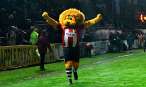 Exeter City's mascot Grecian the Lion will be hoping his side can upset Premier League West Bromwich Albion on Saturday.