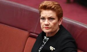 Pauline Hanson in the Senate