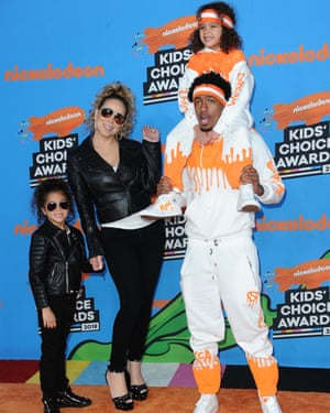 Carey, Nick Cannon and their children.
