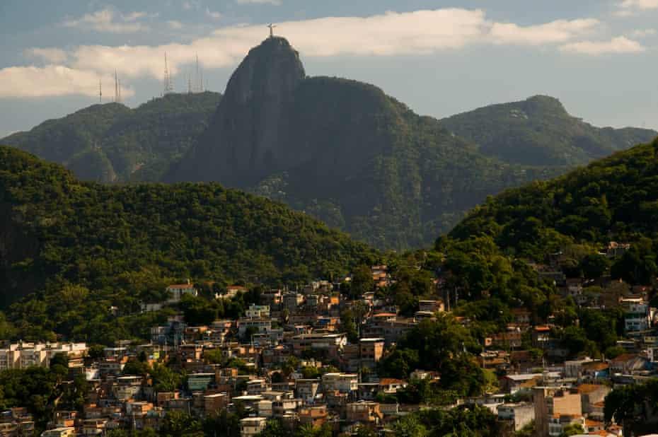 A view of the Babilônia favela from Rio's popular Leme beach.