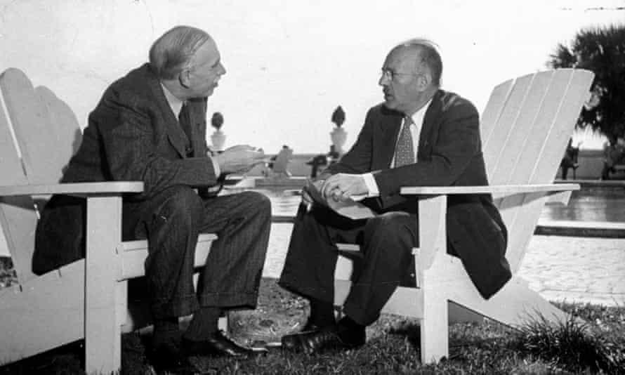 John Maynard Keynes with Harry Dexter White in 1946.