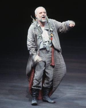 Antony Hopkins as Lear in 1986.