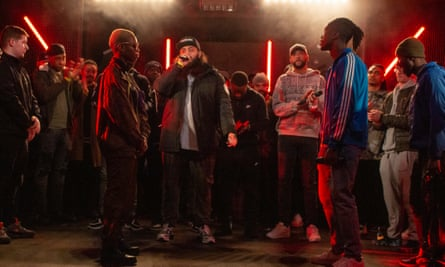 Contestants Lesia and Graft battle it out on season two of The Rap Game UK.