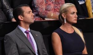 Donald Trump Jr and his wife, Vanessa Trump.