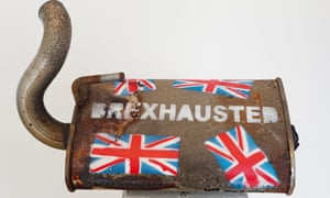 Brexhausted by the Irish artist Frank O'Dea's goes on display at gallery in Dublin on Thursday.