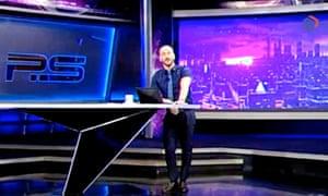 Giorgi Gabunia denounced Putin during the broadcast.