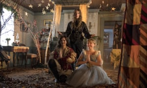 Falling over themselves with chatter … Emma Watson, Saoirse Ronan and Florence Pugh in Little Women.