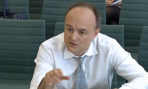 Dominic Cummings at the Treasury committee in 2016 - one parliamentary committee he did agree to attend.