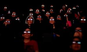 Filmgoers watch the first screening of Avengers: Endgame in Caracas, Venezuela