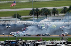 Car numbers 3 and 14 start an on-track incident during the NASCAR Cup Series