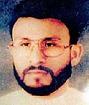 Abu Zubaydah in an unknown location.