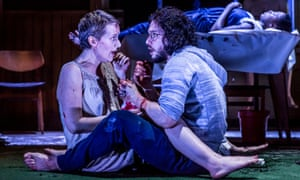 Jenna Russell and Kit Harington in Doctor Faustus at the Duke of York's theatre, London