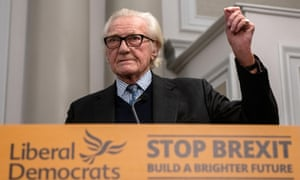 Michael Heseltine speaks at a Liberal Democrat Party press conference on November 27