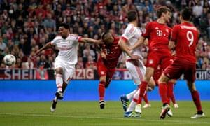 Arturo Vidal heads Bayern into a very early lead.