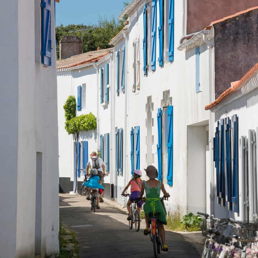 The island is perfect for family cycling.