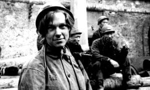 Delia Davin visiting a mine in Hebei province, China, 1975