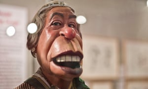 The way one was … Spitting Image's version of the Queen.