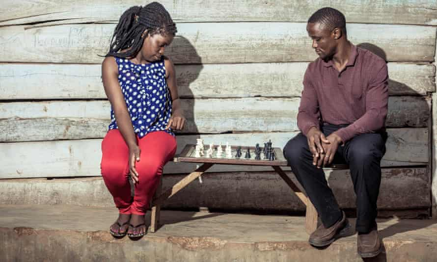 All the right moves: Phiona Mutesi with her chess mentor Robert Katende.