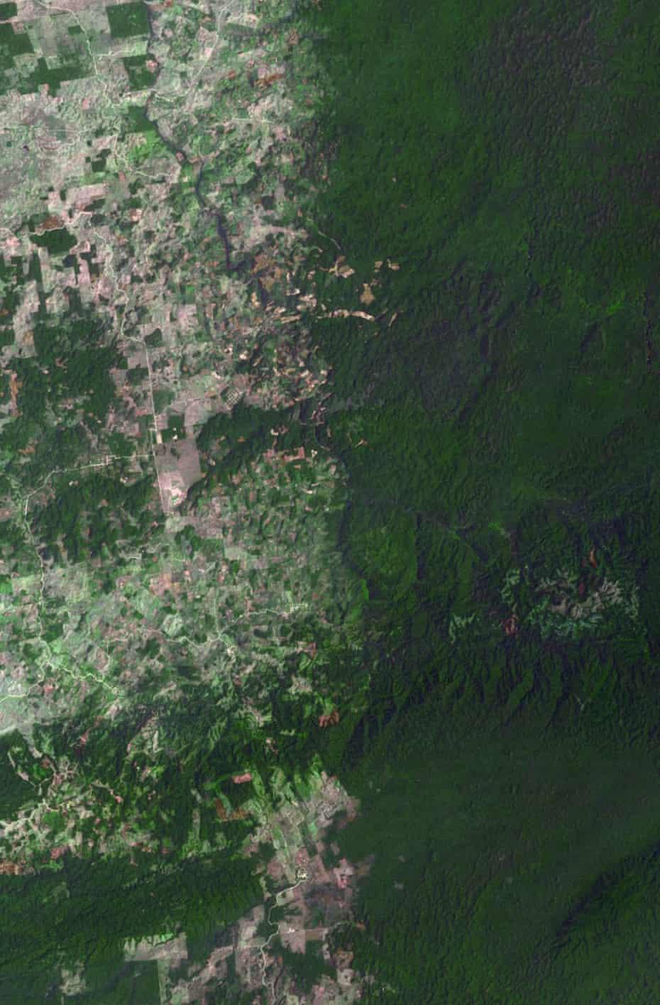 Border between Belize and Guatemala