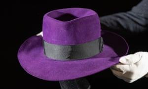 The fedora worn by Jack Nicholson as Joker in the 1989 film Batman, estimated at £20,000-£30,000