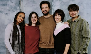 Kerry Washington, Elyse Steinberg, Josh Kriegman, Brigitte Amiri and Eli Despres at Sundance film festival 2020