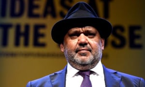 Aboriginal Australian lawyer and academic Noel Pearson prepares to speak at the Ideas at the House lecture series at the Sydney Opera House in Sydney, Wednesday, Sept. 11, 2014. (AAP Image/Tracey Nearmy) NO ARCHIVING