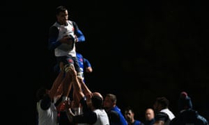 France's players train ahead of their final Six Nations fixture, against Ireland on Saturday evening.