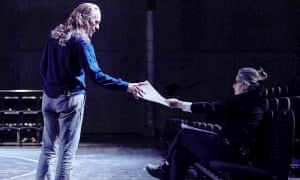 Tacita Dean passes notes to Stephen Dillane in Event for a Stage