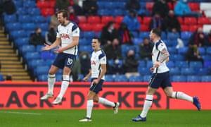 Kane celebrates after scoring