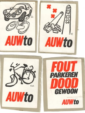Pro-cycling stickers from the 1980s