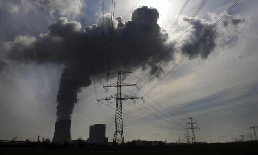 Steam and exhaust gases emitted from a coal-based power station Lippendorf, south of Leipzig, eastern Germany.