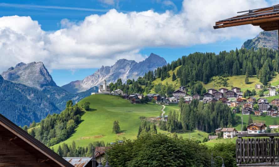 Dolomites, town of Selva di Cadore, Veneto, Italy