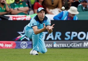 Woakes catches Babar.