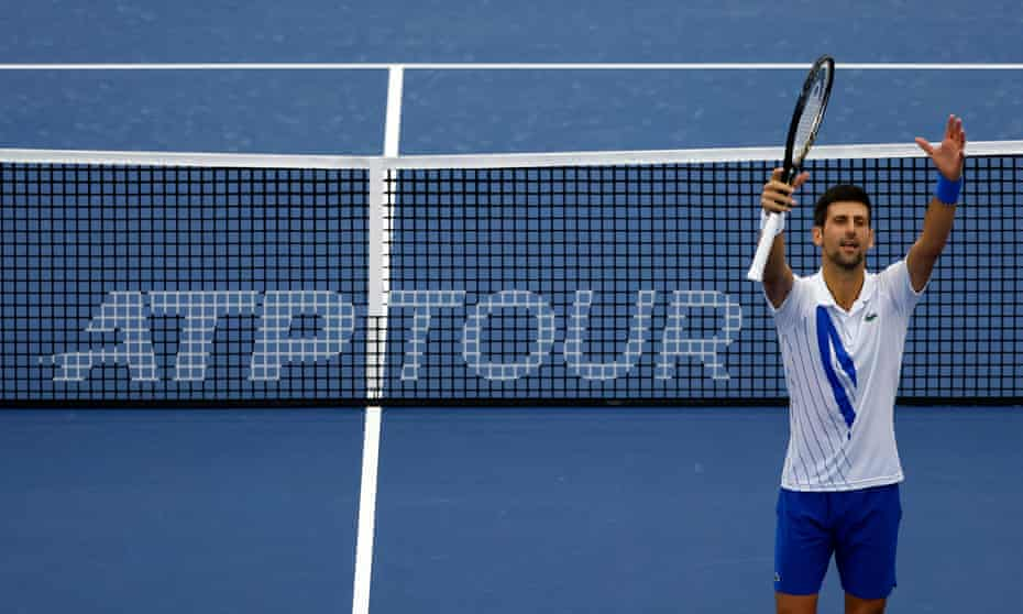 Novak Djokovic celebrates victory at the Western & Southern Open but is leading a rebellion against the ATP.