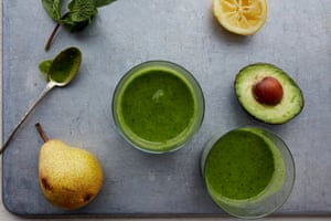 Winter pick-me-up: Anna Jones' ginger green smoothie.