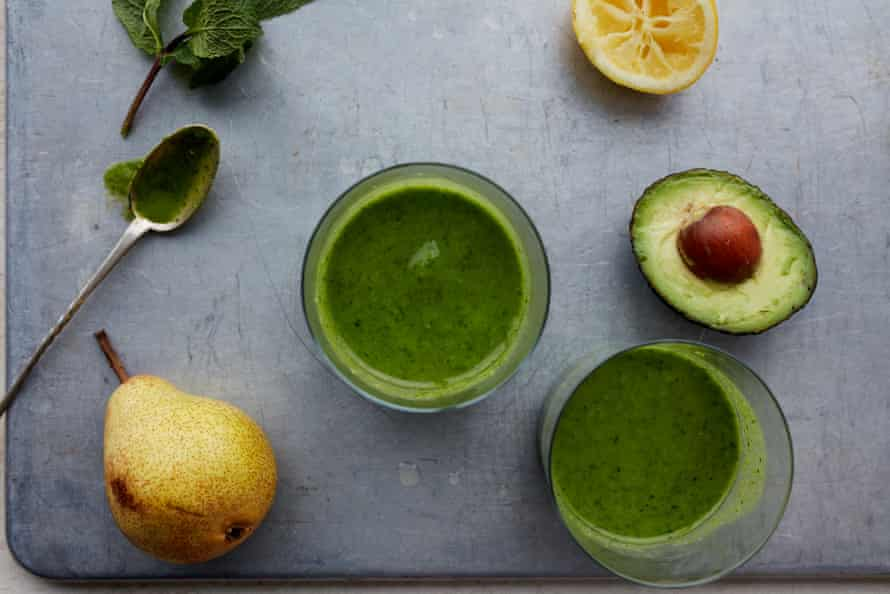 Winter pick-me-up: Anna Jones' ginger green smoothie.