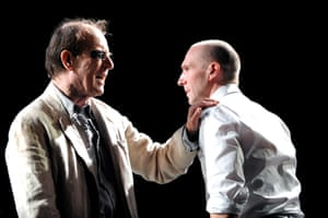 Alan Howard and Ralph Fiennes in Oedipus at Olivier, National Theatre, 2008