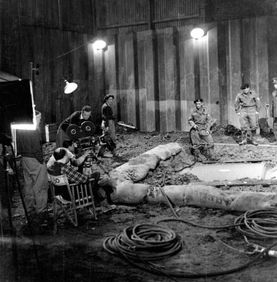 Paddy Russell, centre, on the set of the BBC's Quatermass and the Pit, 1958-59.