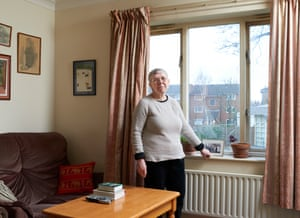 Retired teacher Pat Turnbull at her home of 18 years in Hackney, east London.