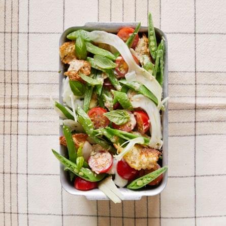 Jane Baxter summer vegetable salad with a tonnato dressing.