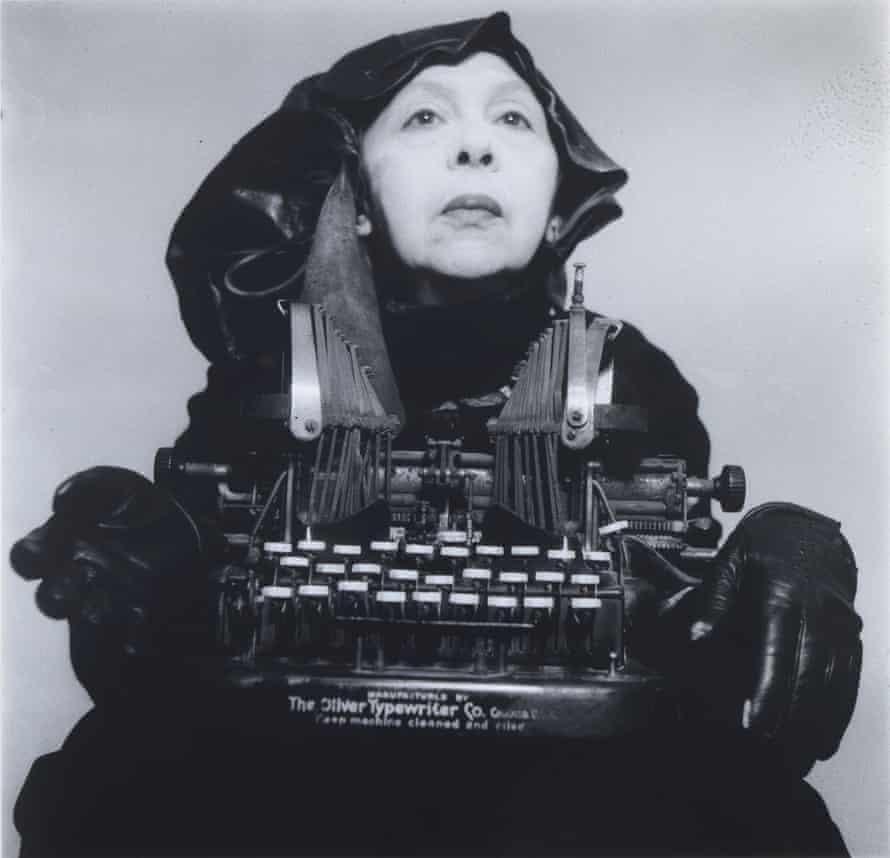 Geta Brătescu's Self-portrait as Mrs Oliver in Her Traveling Costume, 1980.